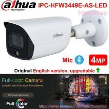 Dahua AI 4MP Full-Color IPC-HFW3449E-AS-LED IP Camera LED Built-in Mic PoE 3.6mm