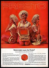 1963 Presto Hair Dryer Three Women Sitting Red Vintage 1960s Photo Print Ad