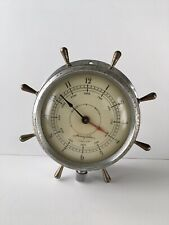 Vtg Airguide Ship Wheel Clock 7 Jewel 8 Day Nautical Maritime