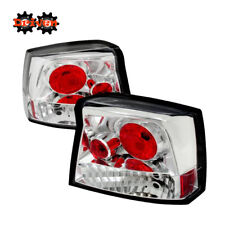 Rear Altezza Tail Light  Clear Lens Chrome Housing Red  05-08 Dodge Charger