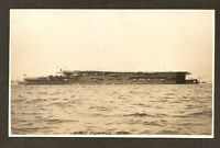 REAL-PHOTO PC.:  H.M.S. FURIOUS - BRITISH NAVY WW-1 AIRCRAFT CARRIER - TRIMMED?