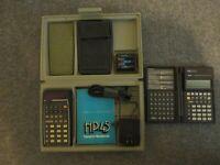 VTG HEWLETT PACKARD HP-45 SCIENTIFIC CALCULATOR W/ MANUAL & CASE + HP-19BII WORK