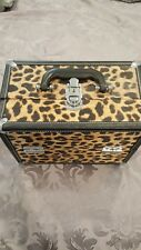 Leopard print make up box with pull out compartments