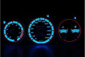 Mazda MX-6 design 1 glow gauges dials plasma dials kit tacho glow dash shift ind