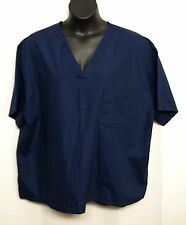 NWT SIMPLY BASIC Scrub Top XXXL Navy Blue 3XL V Neck Poly Cotton Shirt Mens Uni