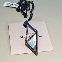 Alexis Bittar Crystal Gray Lucite Origami Necklace NWT