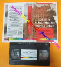 VHS film PIRAMIDI ETERNE E MERAVIGLIE DI BABILONIA Le sette mondo (F112) no dvd