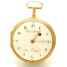 Des Arts of Geneva18K Multicolor Gold Repousse Verge Pocket Watch 50mm CA1770