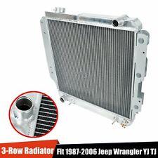 3-Row Full Aluminum Racing Cooling Radiator For 1987-2006 Jeep Wrangler Yj / Tj