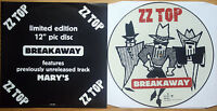 NEAR MINT! ZZ TOP BREAKAWAY Shaped VINYL Picture Pic Disc + Insert NM EX+