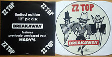 ZZ TOP BREAKAWAY Shaped VINYL Picture Pic Disc + Insert