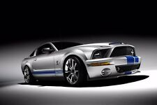 Ford Mustang GT500 KR - 30x20 Inch Canvas Wall Art - Framed Picture Print