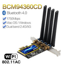 T919 BCM94360CD PCI-E WiFi Card Bluetooth 4.0 wireless for MacOS Hackintosh wifi