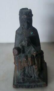 VTG BLACK MADONNA, LADY/VIRGIN OF MONTSERRAT PRIESTS POCKET FIGURINE STATUE