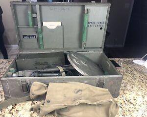Vintage WW2 US Army Military Mine Sweeper Metal Detector SCR-625-C