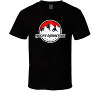 Rocky Mountain Bike Short Sleeve shirt black white tshirt men's free shipping