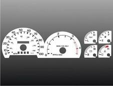 1999-2001 Ford Diesel Powerstroke Dash Cluster White Face Gauges 99-01