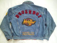 VINTAGE RARE BUGLE BOY 1991 WORLD TOUR DENIM JACKET IN SIZE XL