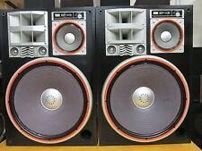 "Sansui SP-X9 Vintage Speaker Pair 15"" 5-Way 7-Driver 300W 22-23kHz 100dB 1W/1M"