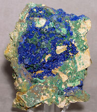 Azurite with Malachite Natural Crystal Specimen-China