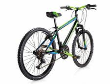 Mtb bici 24 District Uomo 18v MBM Matt Black Green Forcella ammortizzata 634