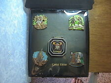 PIRATES OF THE CARRIBBEAN 5 PIN BOX SET DEAD MANS CHEST  DISNEY WDW PINS NEW