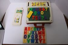 Vintage Fisher Price School Days Portable Play Desk #176 Almost Complete 1972