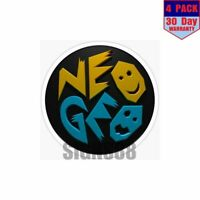 Neo Geo 3D 4 pack 4x4 Inch Sticker Decal