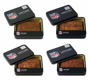 NFL Team Embossed Brown Leather Trifold Wallet  - * Pick Your Team *