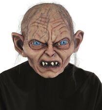 Lotr Lord of the Rings Deluxe Gollum Full Latex Costume Mask Golum Smeagol -Fast