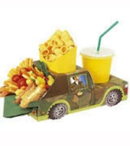 Camo Jeep MEAL TRAY Army Birthday kids party - pack of 8