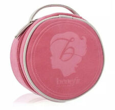 Authentic New Benefit Hot Pink Round Makeup Bag Cosmetic Make Up