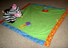 Fisher Price Zebra Take-Along Play Blanket with Butterflies and Birdie
