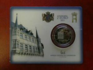 COINCARD BLISTER BU 2 EURO COMMEMORATIVE LUXEMBOURG 2013 HYMNE NATIONAL
