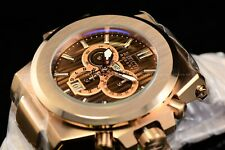 Invicta Men 58mm Akula Reserve Prestige Brown Strips Dial Polished Swiss Watch