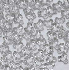 11mm Tri Beads Transparent Crystal 500pc beading crafts jewelry Made in USA