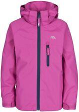 Trespass Raincloud Girls Hooded Waterproof Windproof School Rain Coat Jacket 9/10 FUS