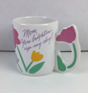 Vintage Collectible Avon Mom You Brighten Up My Day Cup Mug