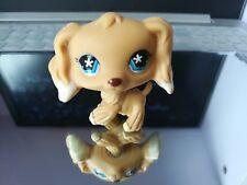 littlest pet shop Lps286 Figure Yellow cocker spaniel Dog Daisy Blue Eyes