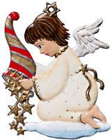"""WILHELM SCHWEIZER GERMAN ZINNFIGUREN Angel with Star Cone (2.25"""" High)"""