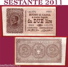 ITALIA,  ITALY,  2 LIRE VITT. EMANUELE III, 1917, P. 37b, QSPL / AXF   SERIE 093