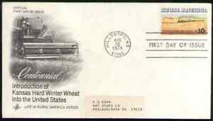 US. 1506. 10c. Wheat Fields & Train, Rural American. Artcraft FDC. 1974
