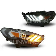 Headlights For 2013-2016 Ford Mondeo Fusion DRL LED Projector Mustang Style