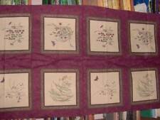 """5 floral cotton panels by Moda each 24"""" x 45"""" - Enchanted Pond"""