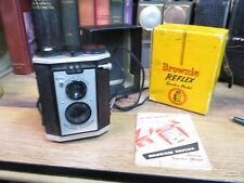 Kodak Brownie camera Reflex Synchro Model 173 w Box & Manual 127 Film vintage
