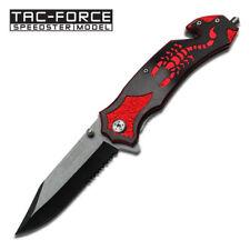 TAC-FORCE Spring Assisted EDC Tactical Folding Rescue Pocket KnifeTF-692BR
