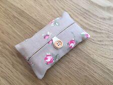 Handmade Packet Tissue Holder Made Using Clarke and Clarke Rosebud Taupe Fabric