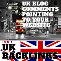100 UK Blog Comments! UK specific link building service for your website!