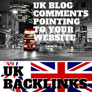 300 UK Blog Comments! UK specific link building service for your website!