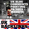 200 UK Blog Comments! UK specific link building service for your website!